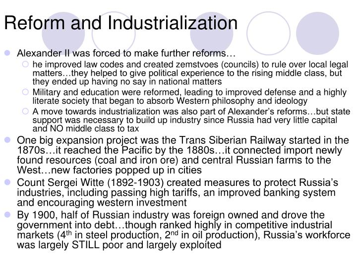 Reform and Industrialization