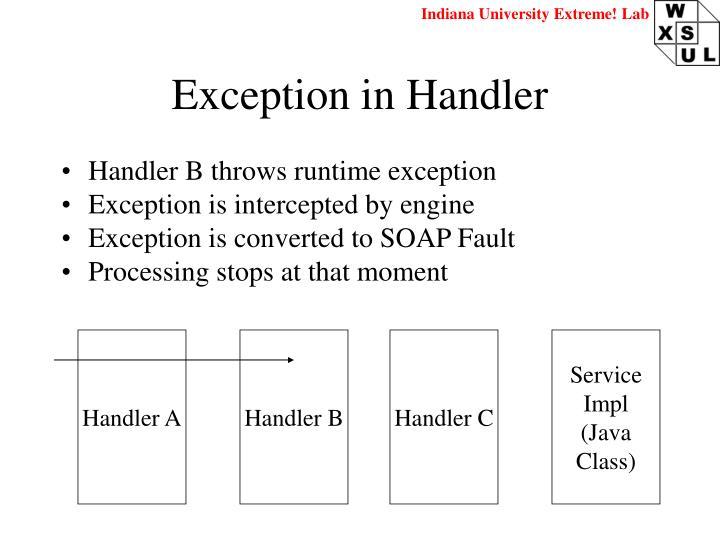 Exception in Handler