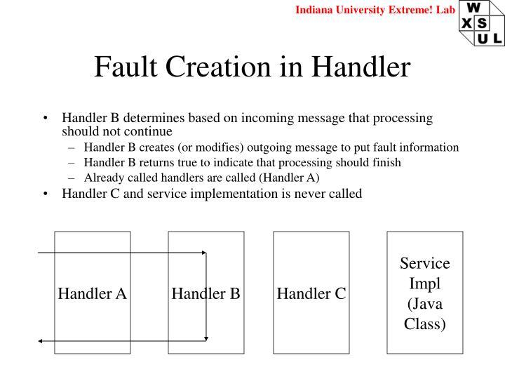 Fault Creation in Handler