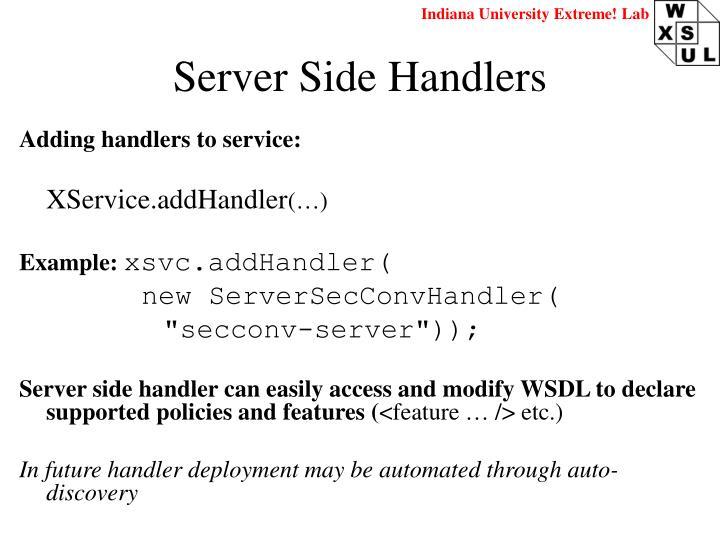Server Side Handlers
