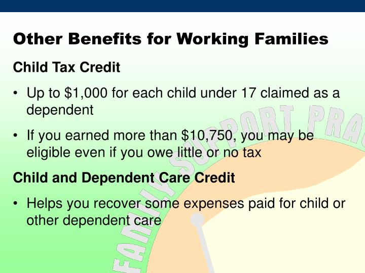 Other Benefits for Working Families