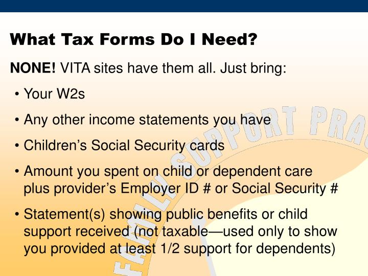 What Tax Forms Do I Need?