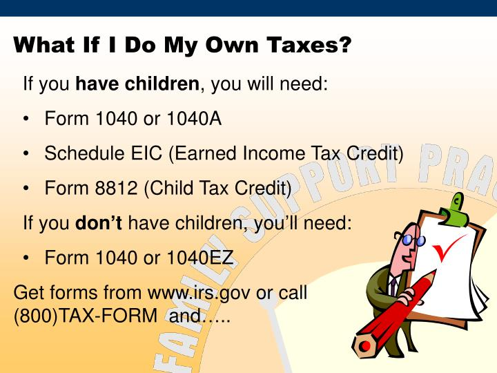 What If I Do My Own Taxes?