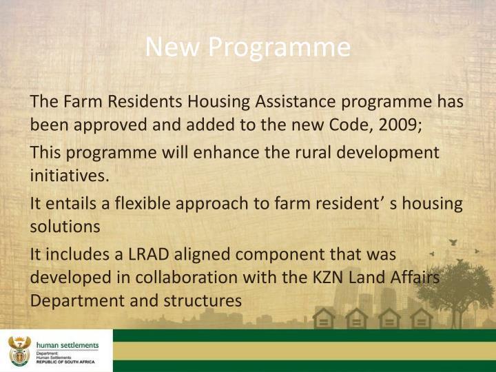 New Programme