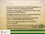 the integrated residential development programme irdp