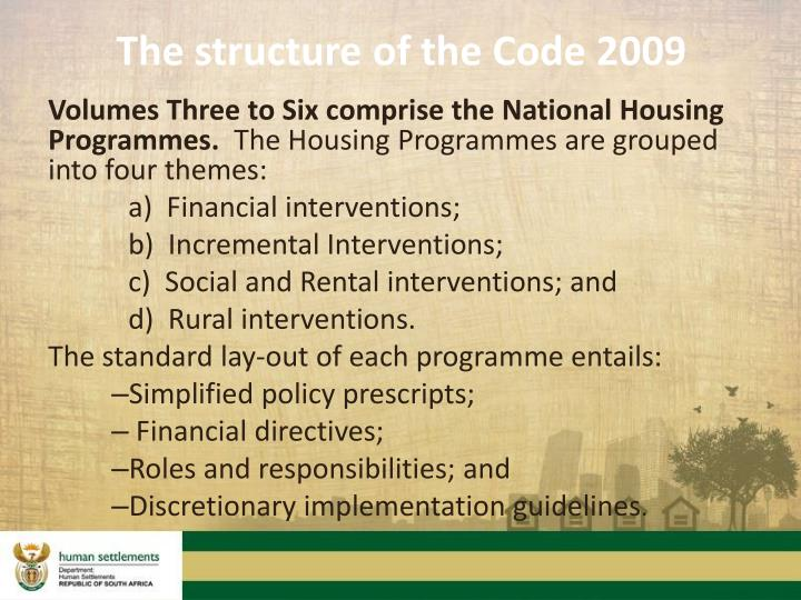 The structure of the Code 2009