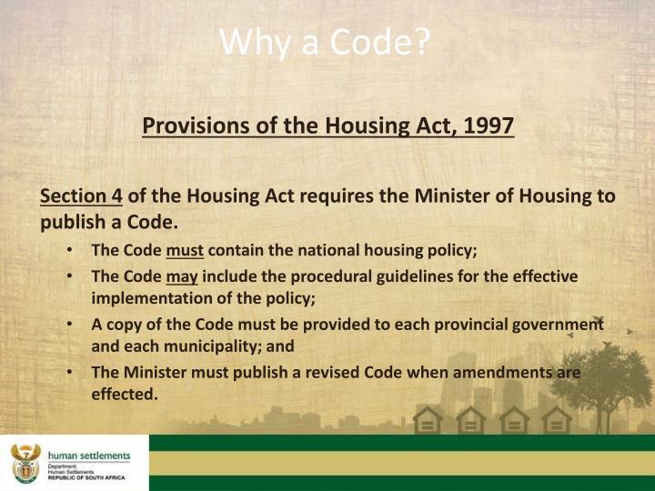 Why a Code?
