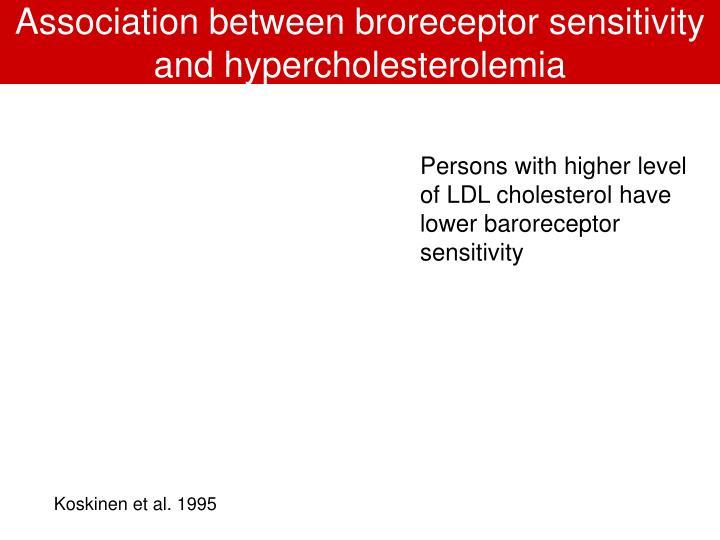 Association between broreceptor sensitivity and hypercholesterolemia