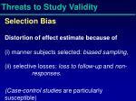 threats to study validity1