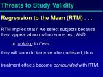 threats to study validity10