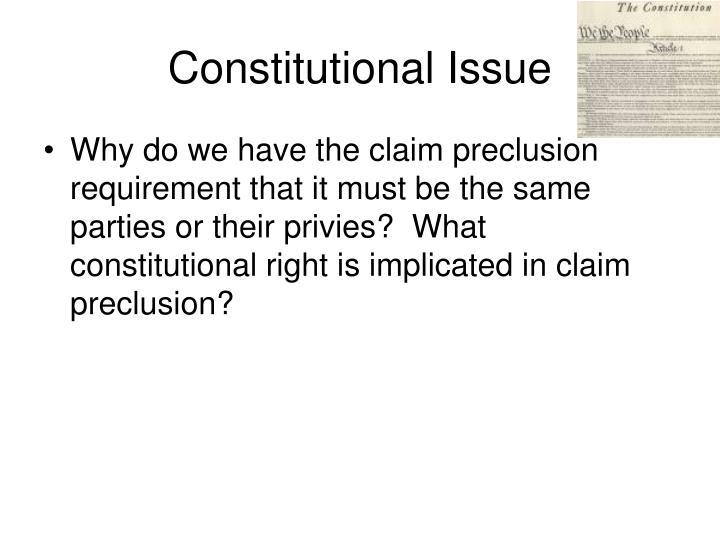 Constitutional Issue