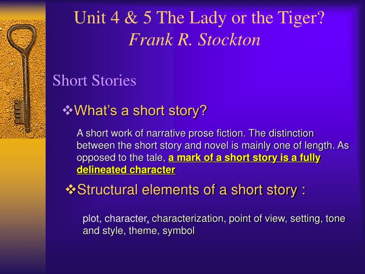 The Lady or the Tiger? by Frank StocktonSUPPORT FOR TIGER?!?