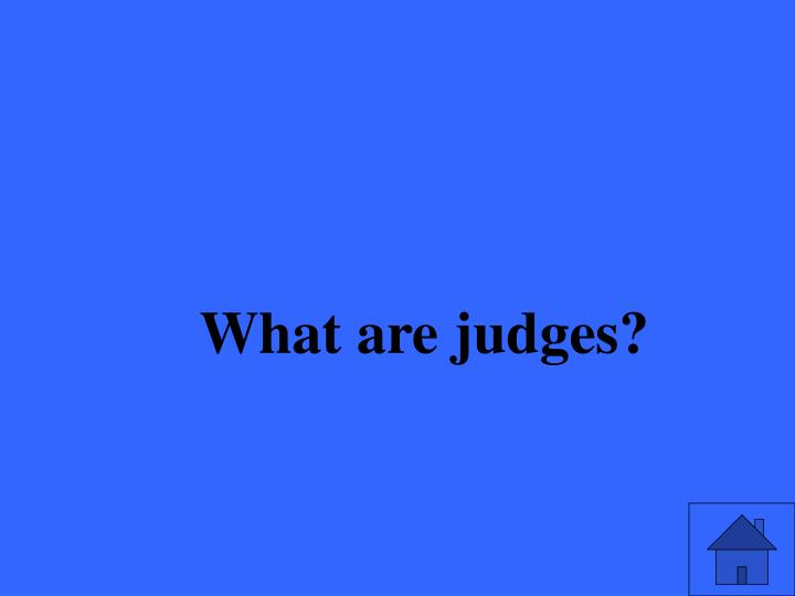 What are judges?