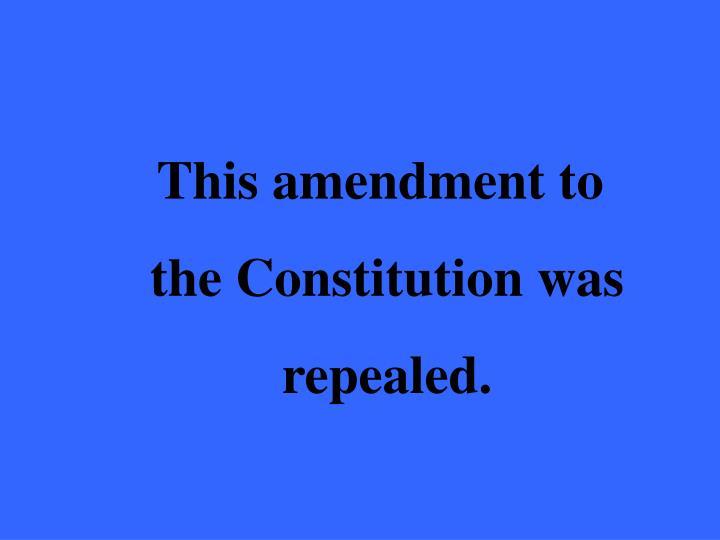 This amendment to