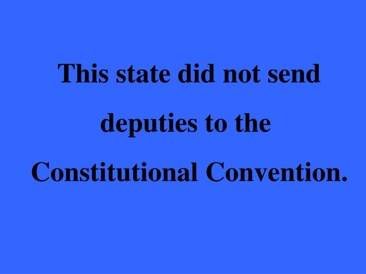 This state did not send