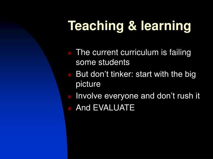 Teaching & learning