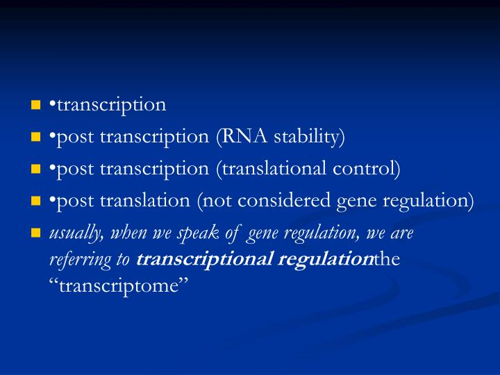 •transcription