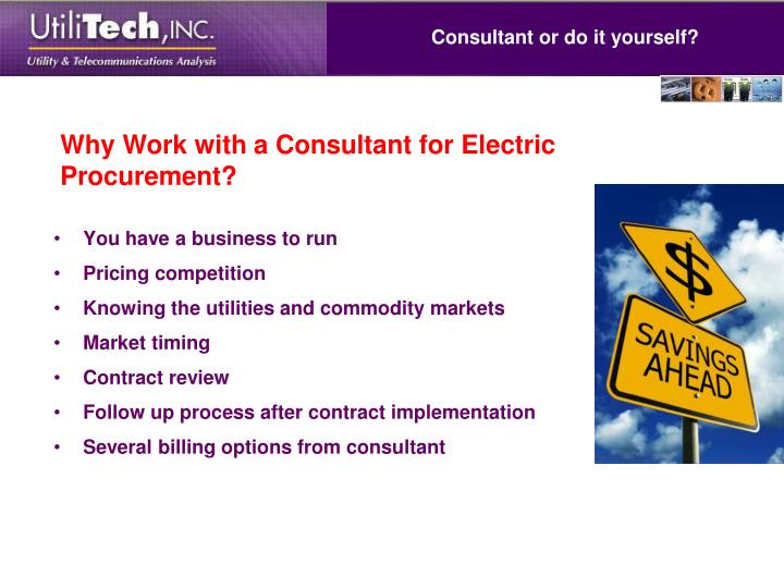 Consultant or do it yourself?