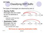 classifying dht traffic