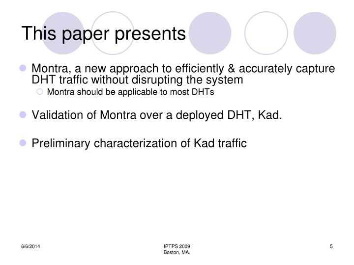This paper presents