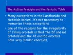 the aufbau principle and the periodic table4