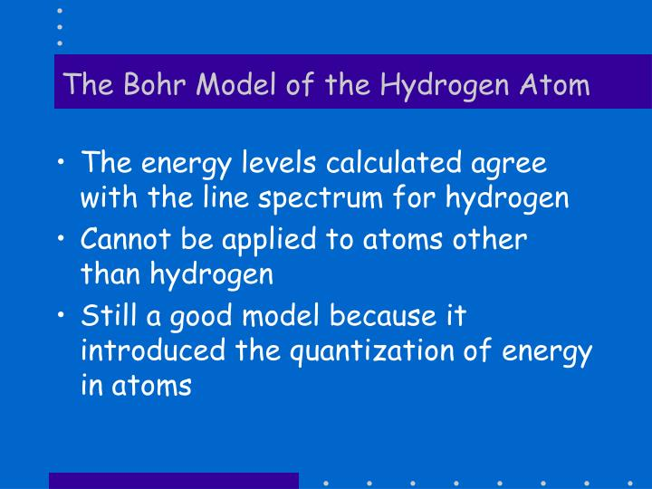 The Bohr Model of the Hydrogen Atom