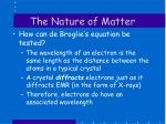 the nature of matter13