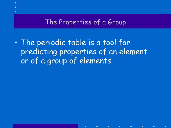 The Properties of a Group