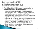 background cifr recommendation 1 2