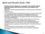barth and murphy study 1994