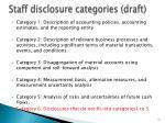 staff disclosure categories draft