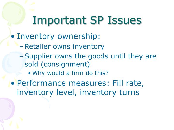 Important SP Issues