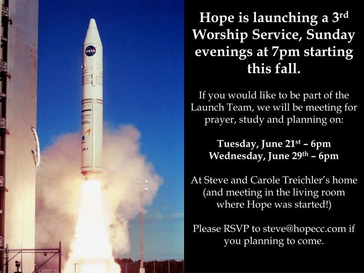 Hope is launching a 3