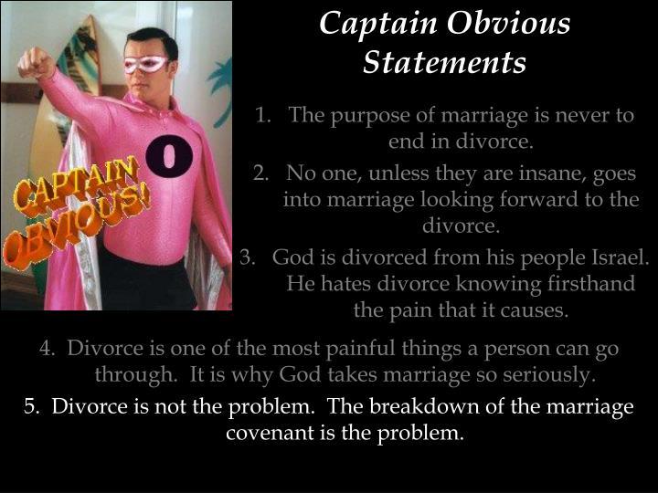 Captain Obvious Statements