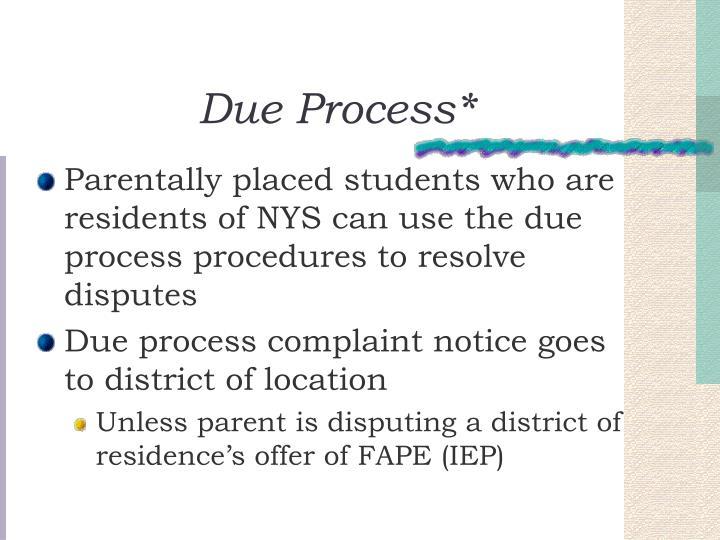 Due Process*