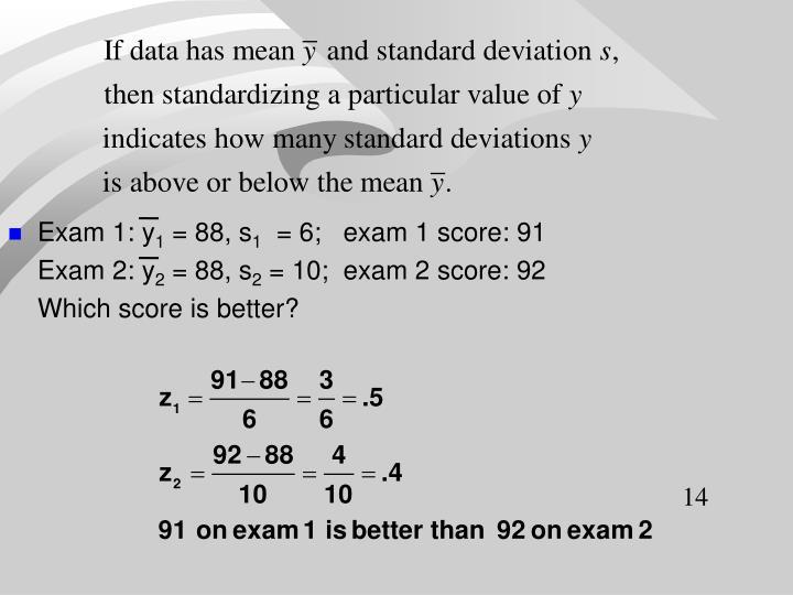 Exam 1: y