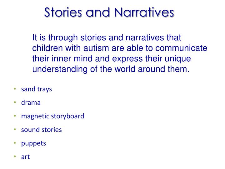 Stories and Narratives