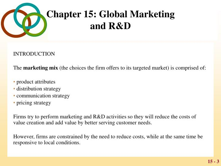 Chapter 15 global marketing and r d