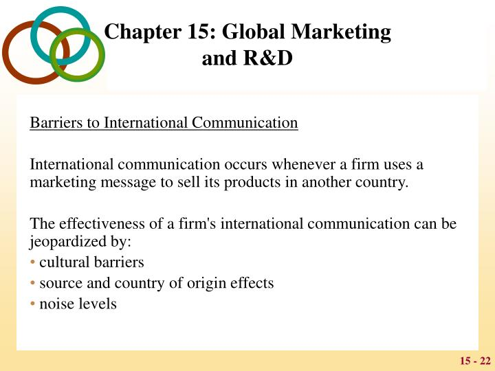 Barriers to International Communication
