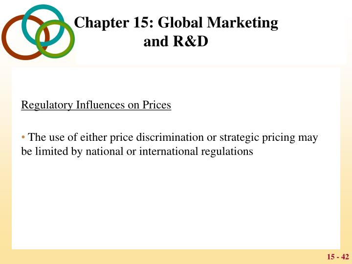 Regulatory Influences on Prices