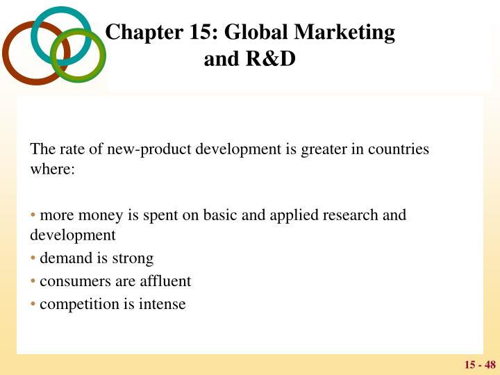 The rate of new-product development is greater in countries where: