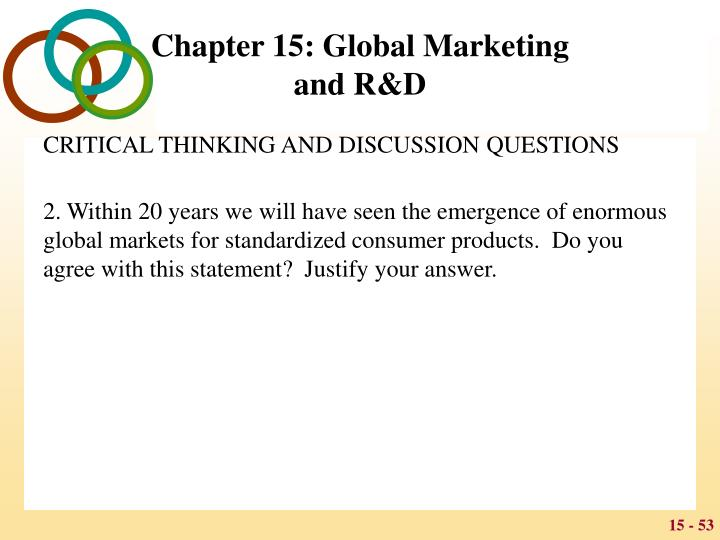 CRITICAL THINKING AND DISCUSSION QUESTIONS