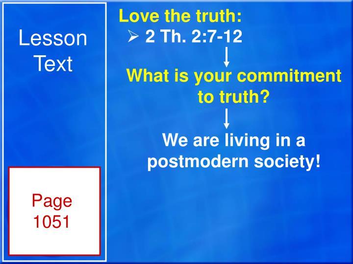 Lesson Text
