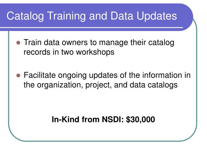 Catalog Training and Data Updates
