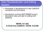 data standardization and editing system