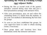 spreading the word forming groups not adjunct skills