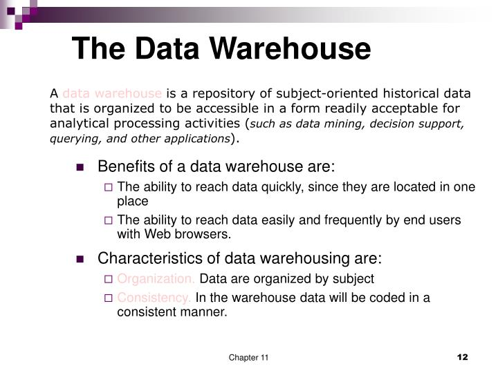 The Data Warehouse