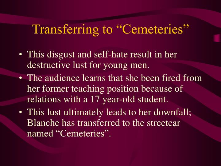 "Transferring to ""Cemeteries"""