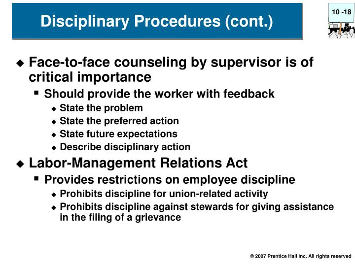 Face-to-face counseling by supervisor is of critical importance