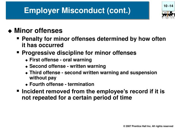 Employer Misconduct (cont.)